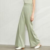 【到手价:133元】Amii极简大气场宽松微喇叭拖地阔腿裤2020春季新款高腰显瘦裤子女