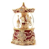 音乐盒 八音盒 水晶球旋转木马 女生生日礼物送儿童创意抖音音乐盒