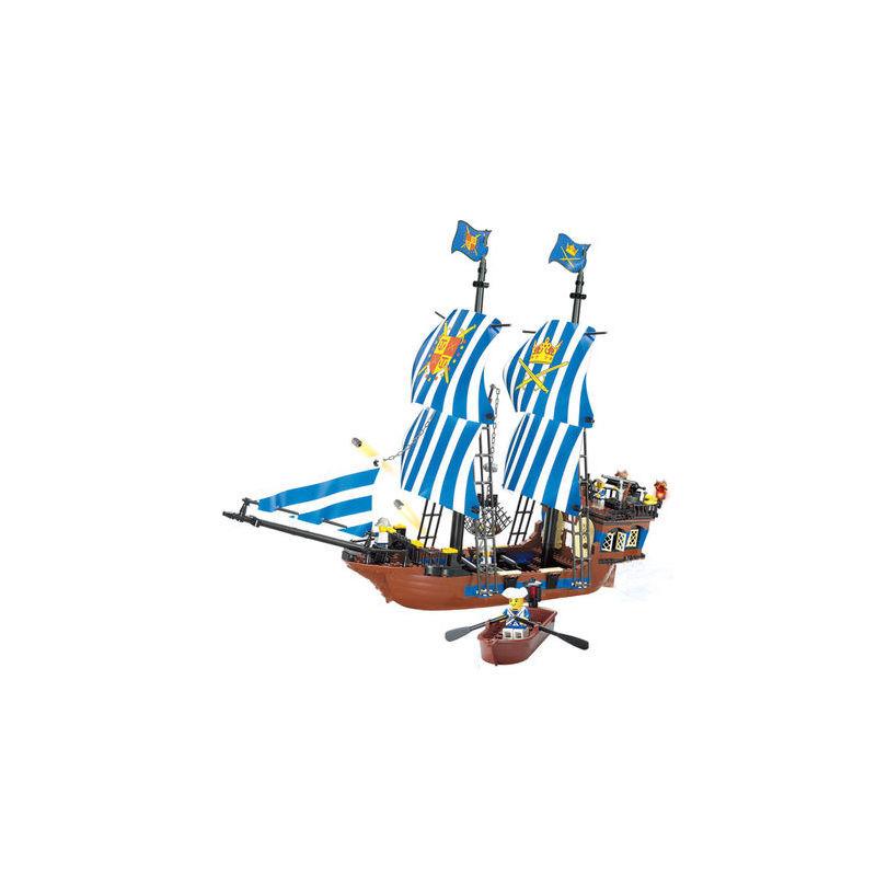 开智87011海盗船金盾号积木益智6-8-10岁以上儿童拼装玩具