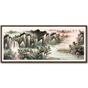 石庆《春色满山川》著名山水画家