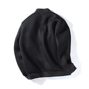 【限时抢购到手价:156元】AMAPO潮牌大码男装 胖子休闲时尚夹克男加肥加大字母绣花外套新款