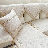 夏季沙发垫布艺仿亚麻坐垫防滑四季通用沙发靠背巾定做沙发垫贵妃