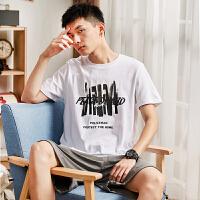 [2.5折价29.4元]唐狮t恤男短袖夏装新款圆领印花衣服夏修