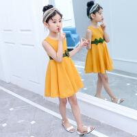 夏�b�B衣裙洋�庀募�和��b裙子12�q小女孩公主裙