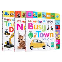 【中商原版】My First系列4册 动物叫声 农场用具 小镇 自然 DK出版 启蒙读物 儿童低幼亲子启蒙绘本 纸板书