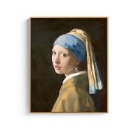 戴珍珠耳环的少女维米尔艺术软装饰画家装卧室餐厅无框挂画 戴珍珠耳环的少女