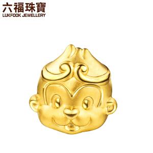 六福珠宝黄金转运珠手链齐天大圣猴子足金串珠手绳定价HYA170005