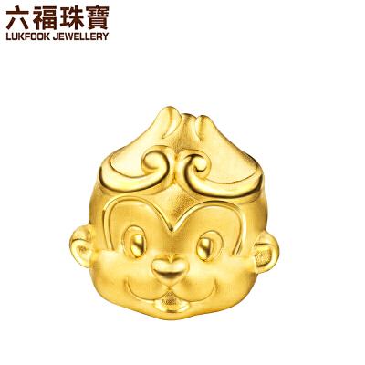 六福珠宝黄金转运珠手链齐天大圣猴子足金串珠手绳定价HYA170005支持使用礼品卡