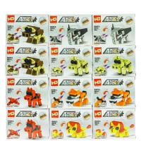 儿童玩具模型动漫积木恐龙动物积木拆装建构拼插积木