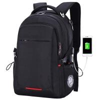 6双肩包男士商务休闲旅行电脑包韩版女高中生学生书包背包