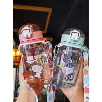 富光双层玻璃水杯 透明带盖过滤茶杯320ml男女式玻璃杯子