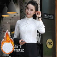 2017秋季新款职业白衬衫女长袖面试工作服工装修身白衬衣大码正装 +裤子