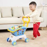 超市购物车女孩男宝宝手推车大号仿真过家家儿童婴儿小推车玩具
