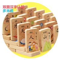 儿童益智积木玩具早教多米诺骨牌宝宝识字小学生