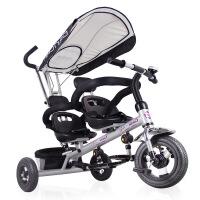 双胞胎儿童三轮车 脚踏车双座宝宝三轮车 童车双人三轮车手推车
