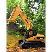 遥控挖掘机玩具 无线工程车可充电合金挖机钩机儿童玩具车挖土机
