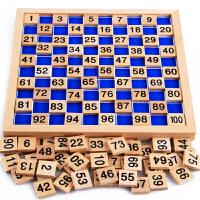 数学益智早教玩具2-3-4岁宝宝儿童学习1-100数字卡片智力拼图