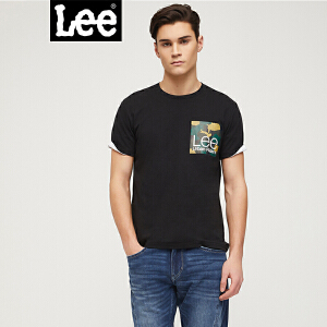 Lee男装 2018春夏新品都市骑士黑色短袖T恤L302082LQK11