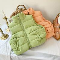 女宝宝马甲冬装女童1-3岁女孩纯色无袖上衣外套