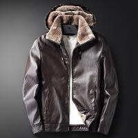 香港潮牌冬季加绒加厚休闲短款皮衣男士大码保暖棉衣外套青年男装