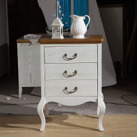 尚满 地中海系列斗柜 卧室家具 水曲柳实木框架边柜 三、四斗柜 储物柜