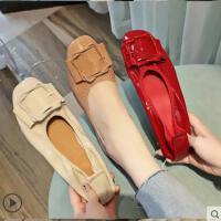 芭蕾舞鞋女新款韩版百搭浅口平底单鞋软底蛋卷女鞋奶奶鞋