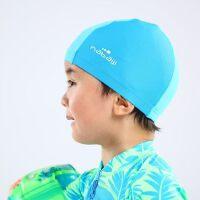 户外游泳网布泳帽宝宝婴儿2-4岁女孩男孩印花舒适泳帽