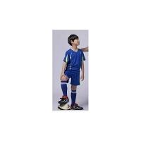儿童足球服套装短袖男童比赛足球衣服定制小学生足球训练班队服 蓝色 324 短袖蓝色