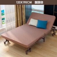 【品牌热卖】折叠钢丝床 单人安装折叠床午休床单人双人办公室歇息陪护午睡行军沙发床 120咖架免安装咖啡色