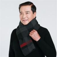 秋冬围巾男士中老年人冬季加厚保暖老人围脖爸爸爷爷户外休闲围巾