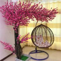 仿真桃花树大型仿真桃树节日装饰樱花树造型实木桃花树定做仿真花