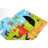 进口英文原版绘本 刮风的日子里公园里的鲨鱼 洞洞书 Shark in the Park on a Windy Day!