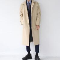 宽松男士风衣韩版中长款外套