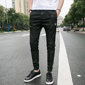 2017夏季九分裤男夏裤夏季9分休闲小脚短裤迷彩裤韩版修身潮男裤