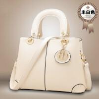 女包手提包女士包包新款单肩斜挎包大包kg 米白色