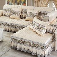 四季通用简约现代包沙发套欧式滑布艺沙发垫实木罩巾定制J