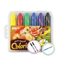 旋转蜡笔12色/24色 宝宝colorix水溶性油画棒 儿童绘画笔 36色【赠送画册】 加赠勾线笔+笔刷