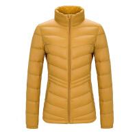 户外秋冬新品羽绒服女短款立领修身简约时尚保暖外套