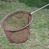 抄网捞鱼网钓鱼用品伸缩杆3米不锈钢儿童小孩儿童鱼网竿渔具操网