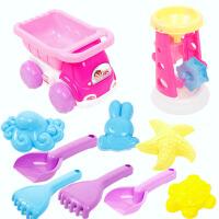 儿童沙滩玩具车套装宝宝玩沙子戏水挖决明子沙漏铲子桶婴儿洗澡