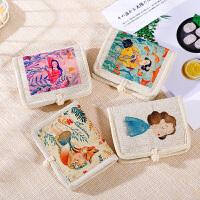可爱帆布钱包女短款折叠卡包学生2020新款韩版少女个性简约零钱包