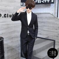 春秋西服套装男三件套韩版修身小西装男士职业装礼服学生帅气正装