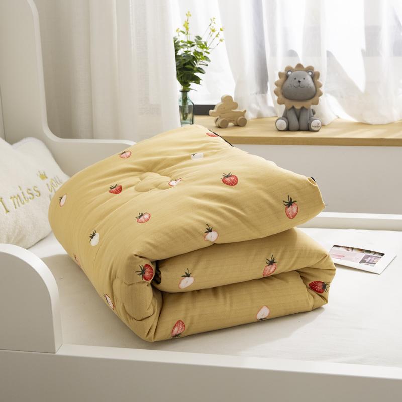 儿童棉被宝宝新生婴儿纯棉花被芯全棉幼儿园被子厚款秋冬季 纯棉材质,棉花填充,蓬松保暖