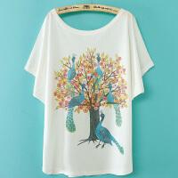 慈颜夏款孕妇装宽松卡通图案印花圆领短袖T恤韩版休闲LT203