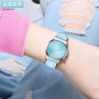 女生运动手表初中学生皮带石英表小清新可爱儿童11-15岁韩版户外手表