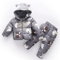 儿童羽绒服套装男女宝宝冬装外套小童1-3岁小童两件套童装反季