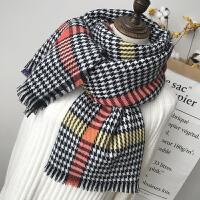 新款围巾女冬季百搭英伦经典千鸟格长款保暖女学生围脖男