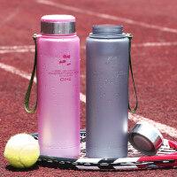 运动水壶大容量便携塑料磨砂杯子简约户外水瓶大号1000ml水杯 支持礼品卡支付