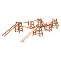 幼儿园户外木质攀爬架儿童体能训练组合感统训练器材攀爬梯