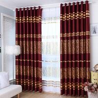 定制欧式窗帘成品格子遮光布简约现代卧室飘窗客厅落地窗平面窗纱